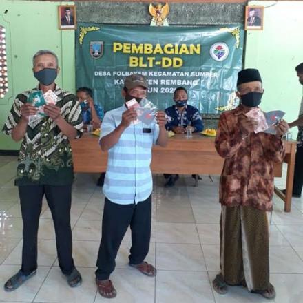 Pembagian BLT DD bulan Juli Desa Polbayem Kecamatan Sumber Kabupaten Rembang